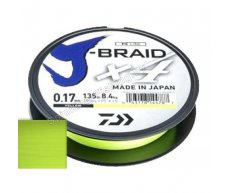 Шнур Daiwa J-Braid X4 Yellow 0.17мм 135м