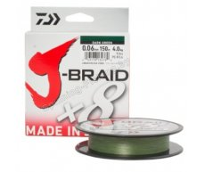 Шнур Daiwa J-Braid X8 Dark Green 0.13мм 18lb 150м