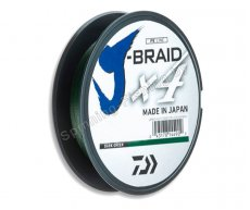 Шнур Daiwa J-Braid X4 Dark Green 0.19мм 135м