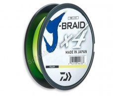Шнур Daiwa J-Braid X4 Yellow 0.07мм 135м