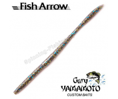 "Мягкие приманки Fish Arrow & Gary Yamamoto Fall Shaker 5"" #214 (Smoke/Black,Blue&Gold)"