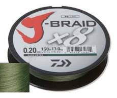 Шнур плетеный Daiwa J-Braid X8 Dark Green 150м 0.16мм 20lb